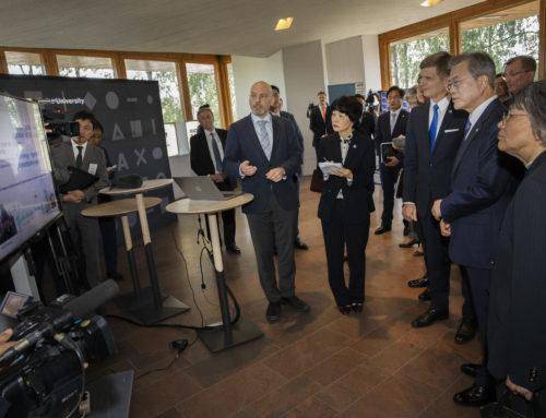 PriMO-5G project presented during visit of the President of the Republic of Korea to Aalto University